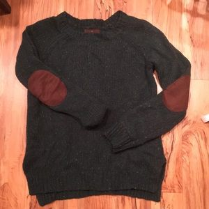 Forest Green Sweater with Patches
